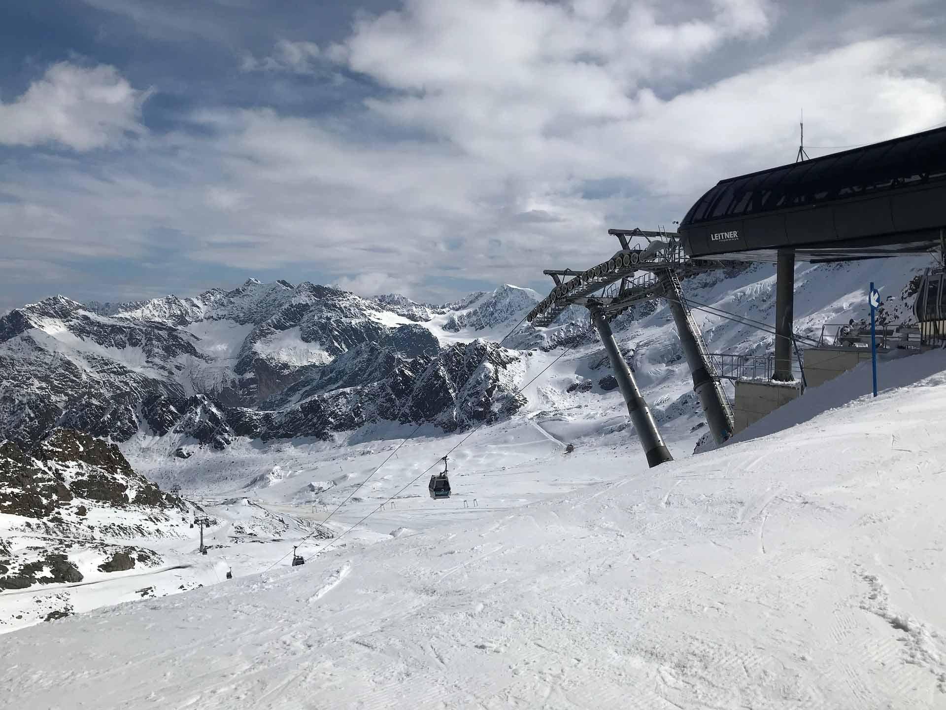 De Kaunertaler Gletscher in Tirol, Oostenrijk