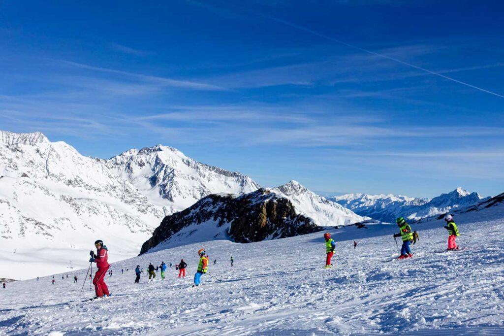 Skiën met kinderen op de Stubaier Gletscher