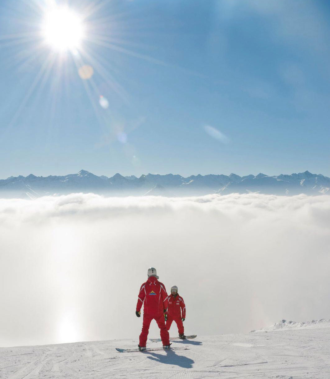Snowboardleraren in Serfaus