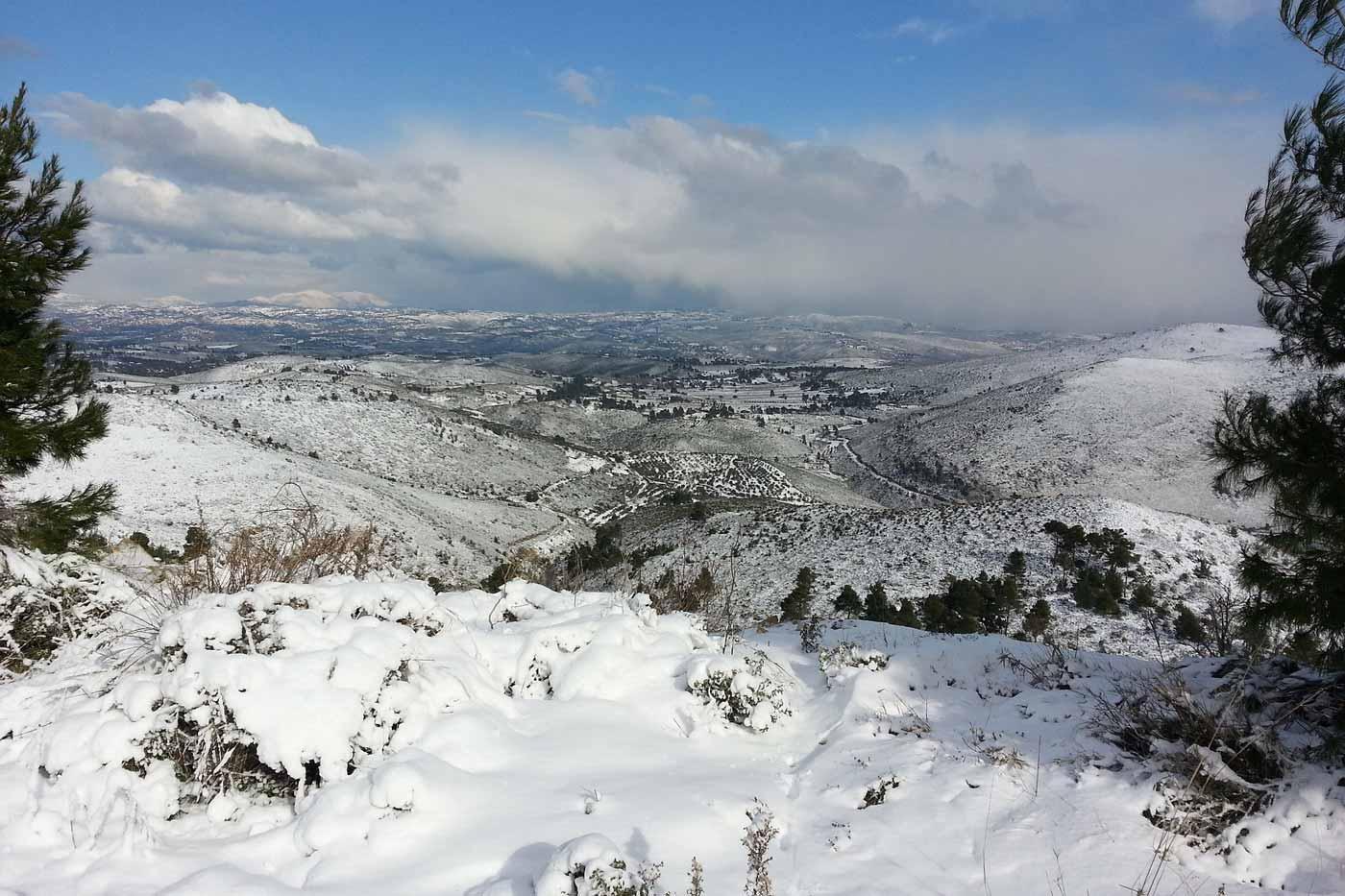 winters landschap in Griekenland
