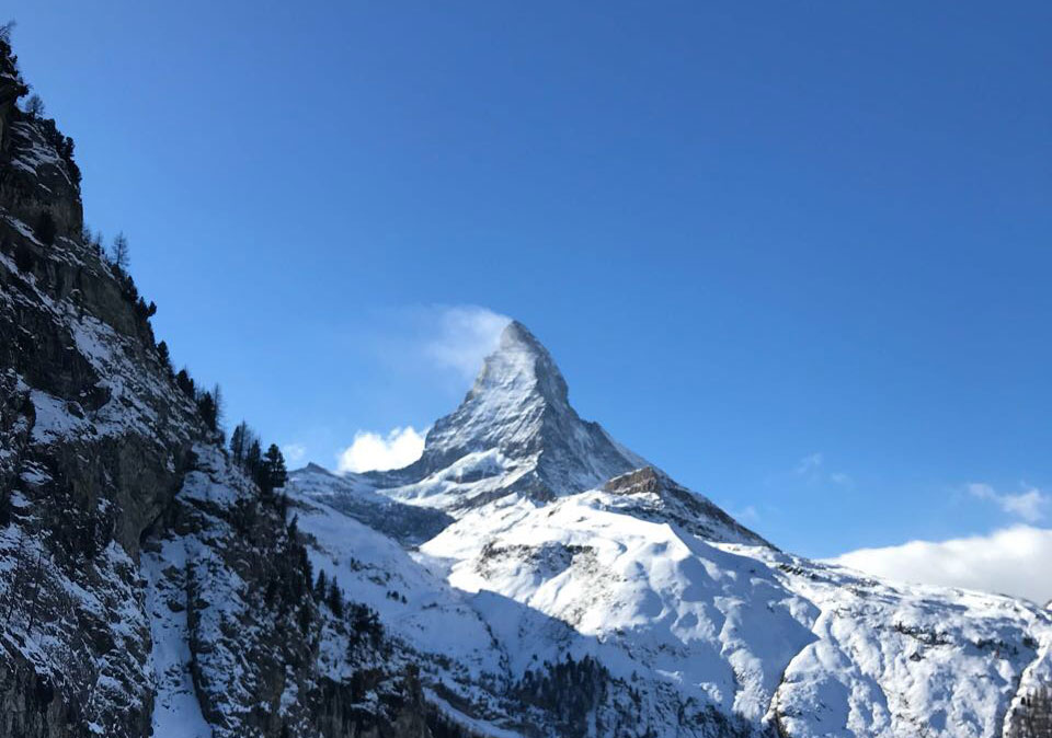 Matterhorn in Zermatt skiën zomer