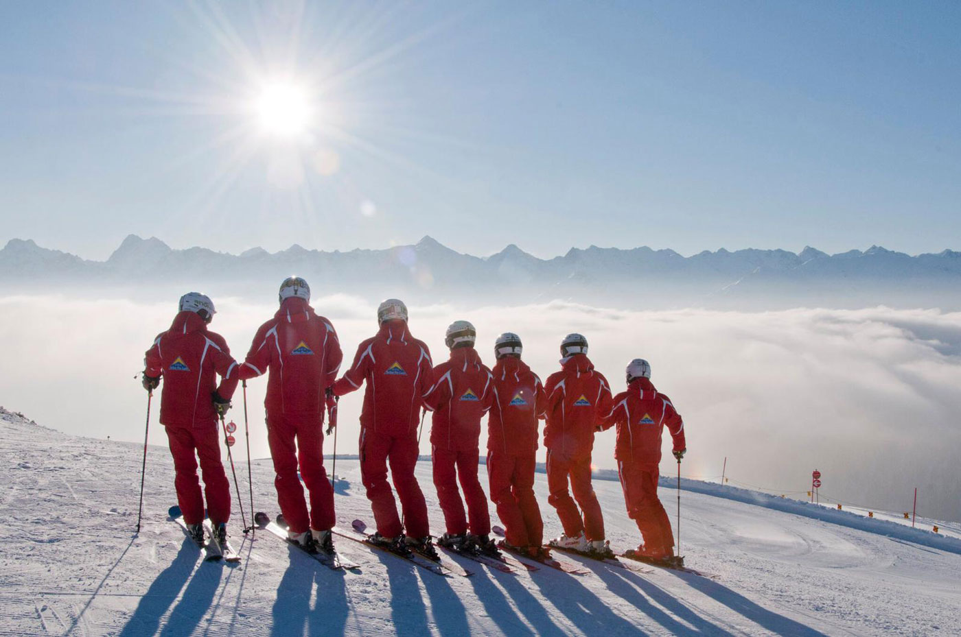 Skileraren in skigebied Serfaus-Fiss-Ladis