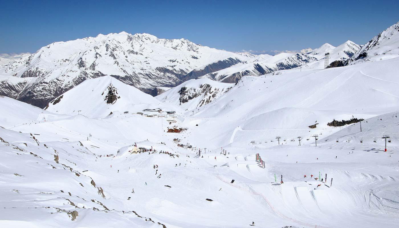 Zomerskiën Les Deux Alpes op de gletsjer