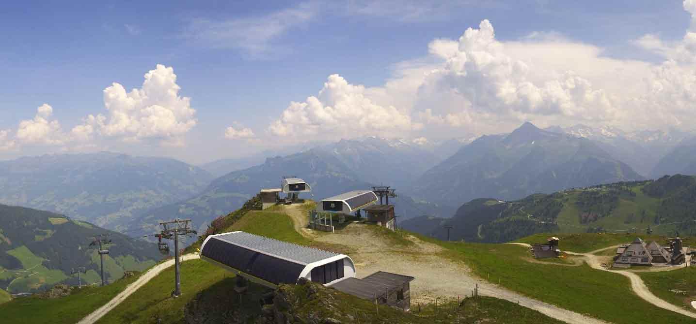 Webcambeeld Mayrhofen in de zomer