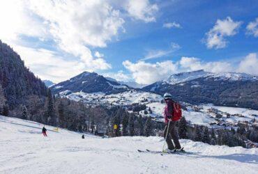 Uitzicht op de pistes van Oberstdorf Kleinwalsertal