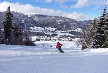 Skiën in op de piste in Oberstdorf Kleinwalsertal