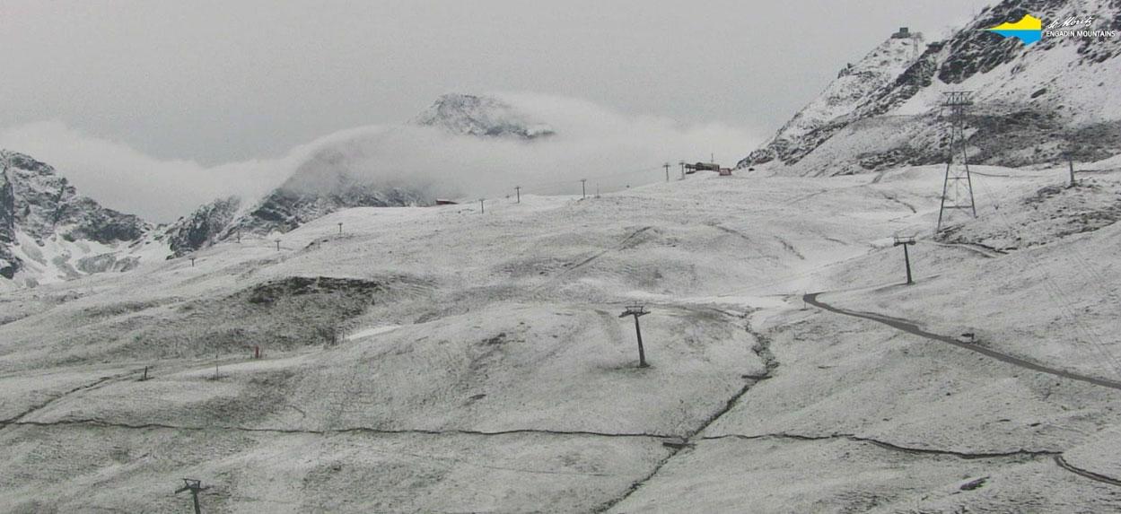 Verse sneeuw in St. Moritz