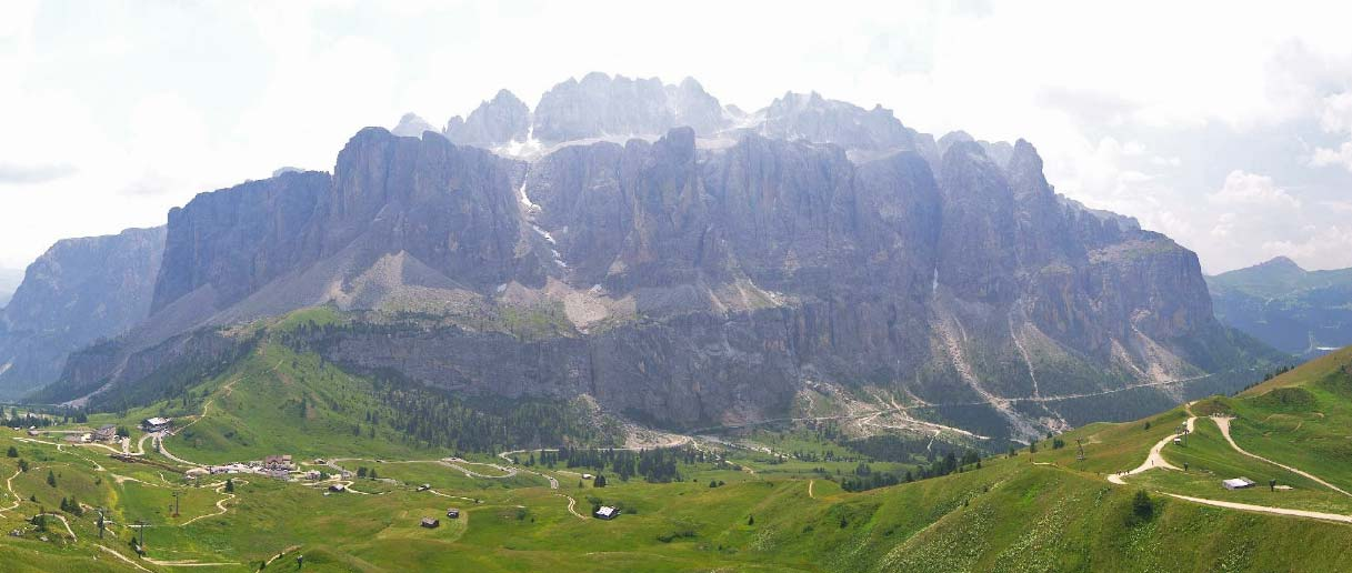 Webcambeeld Val Gardena in de zomer