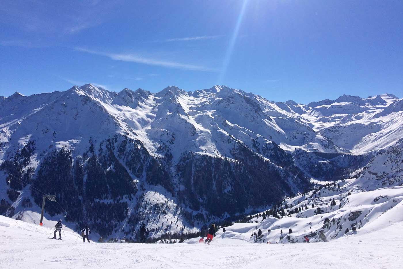 Skiën op de pistes in Nendaz