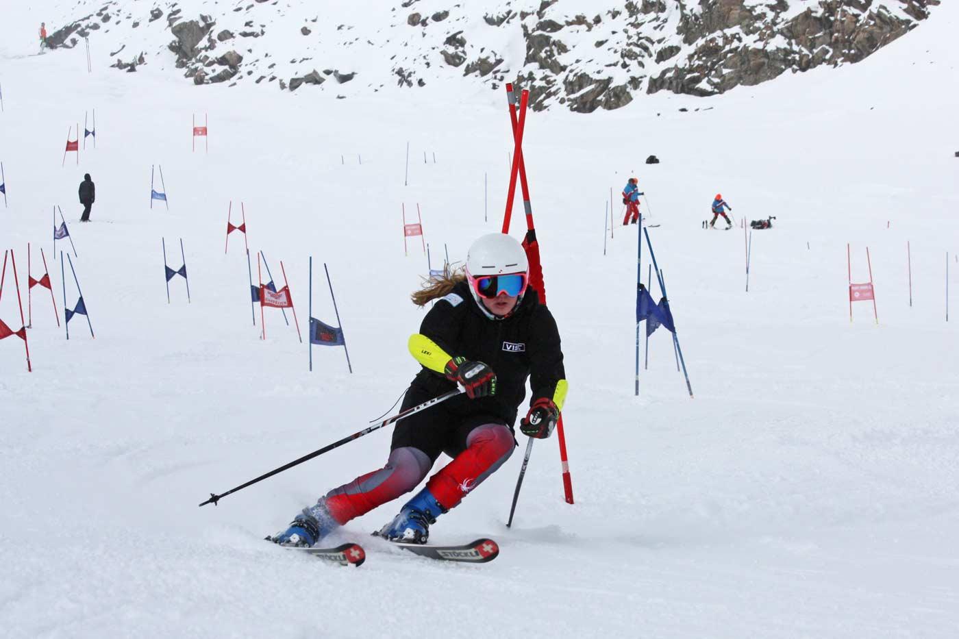 Skiën met een race ski