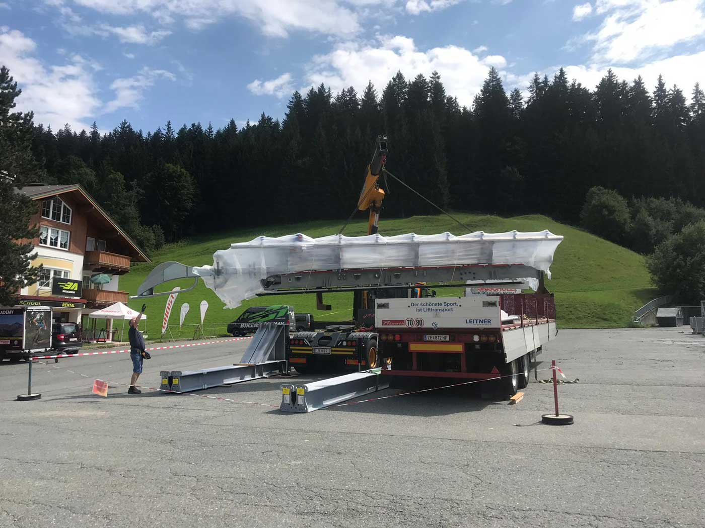 Fleckalmbahn Kirchberg bouwwerkzaamheden