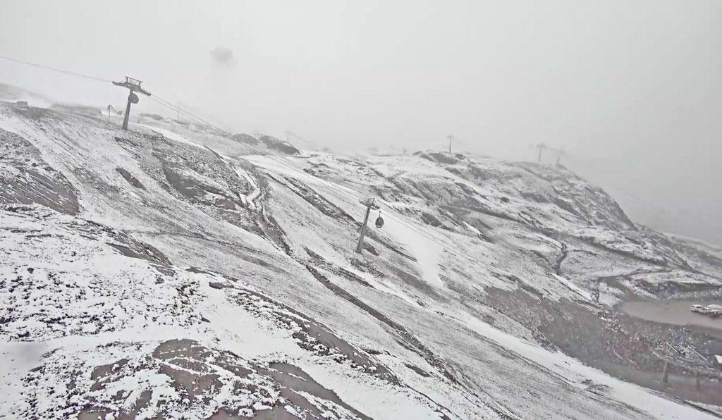 Sneeuw op de Kitzsteinhorn