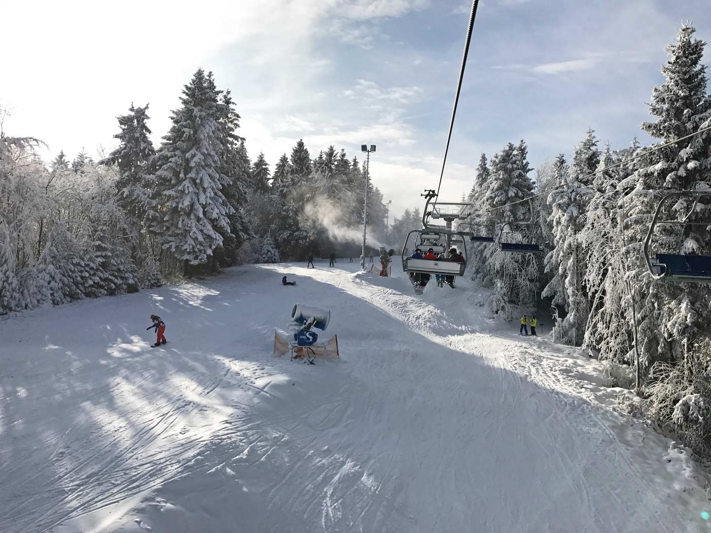 Stoeltjeslift in skigebied Winterberg: skigebieden op minder dan 900 km vanaf Utrecht