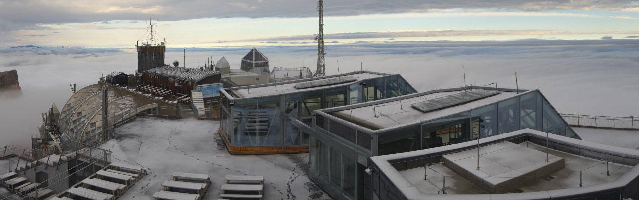 Sneeuw Zugspitze augustus