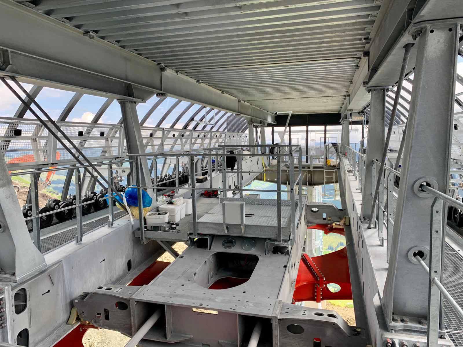 Bouwwerkzaamheden nieuwe Zwölferkogelbahn Hinterglemm