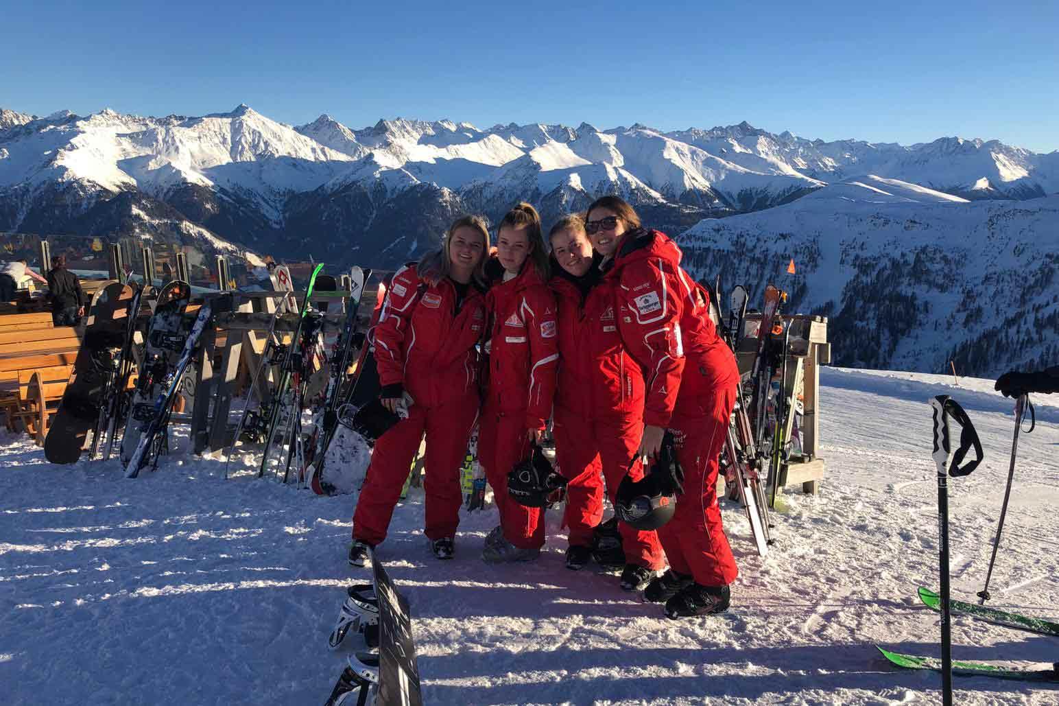 Skileraressen in Serfaus