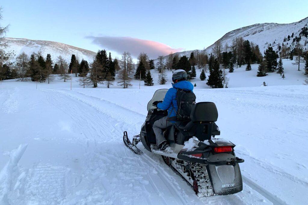Sneeuwscooter rijden