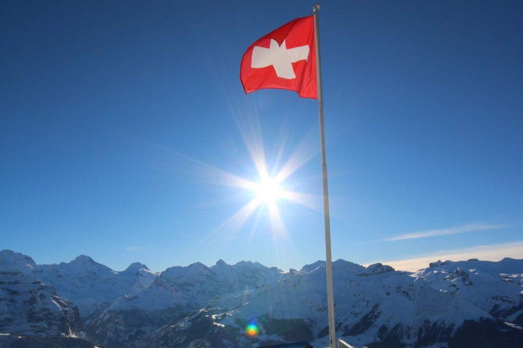 Vignet Zwitserland 2020 tijdens een wintersport in Zwitserland