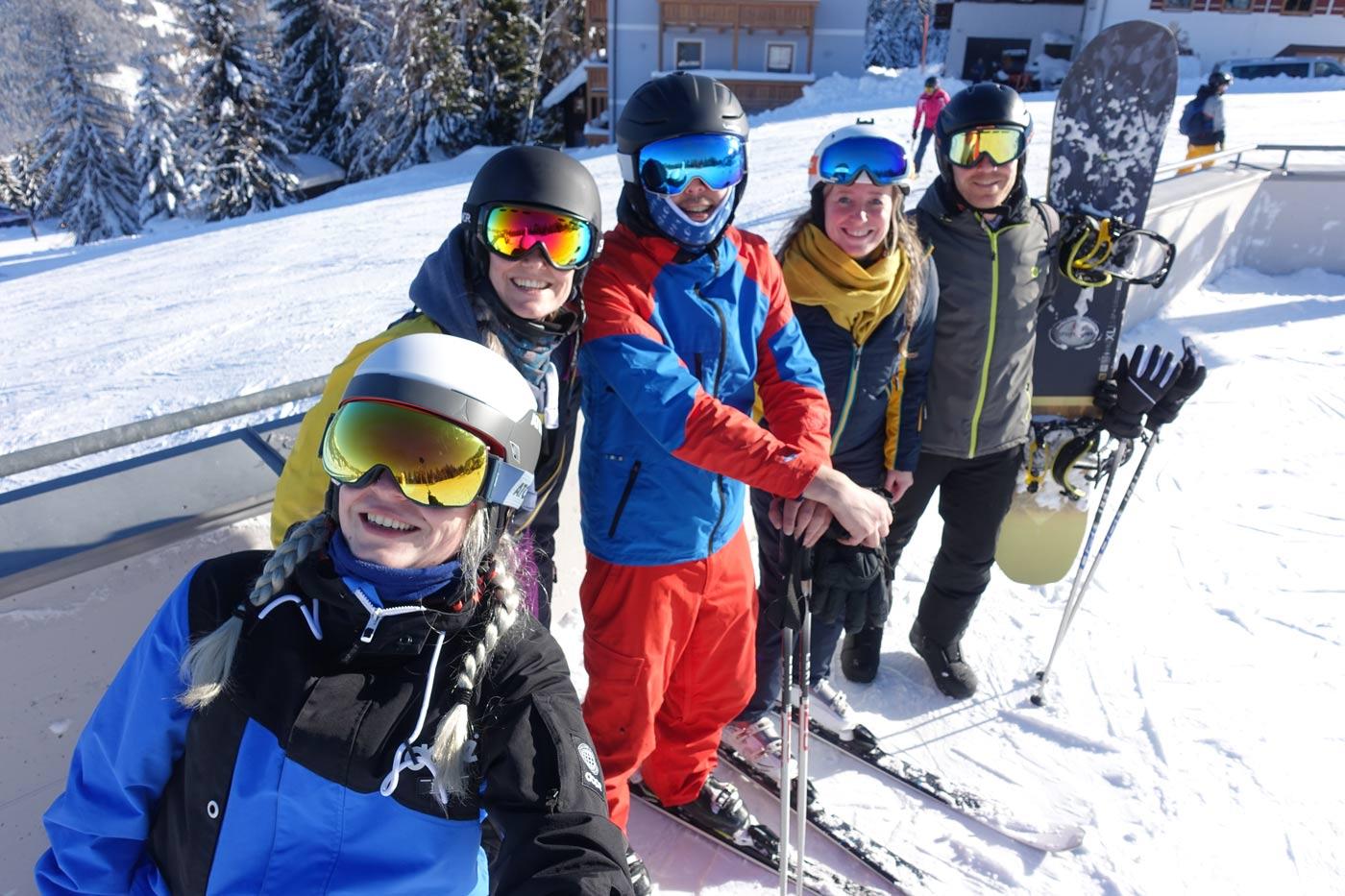 Wintersport groep