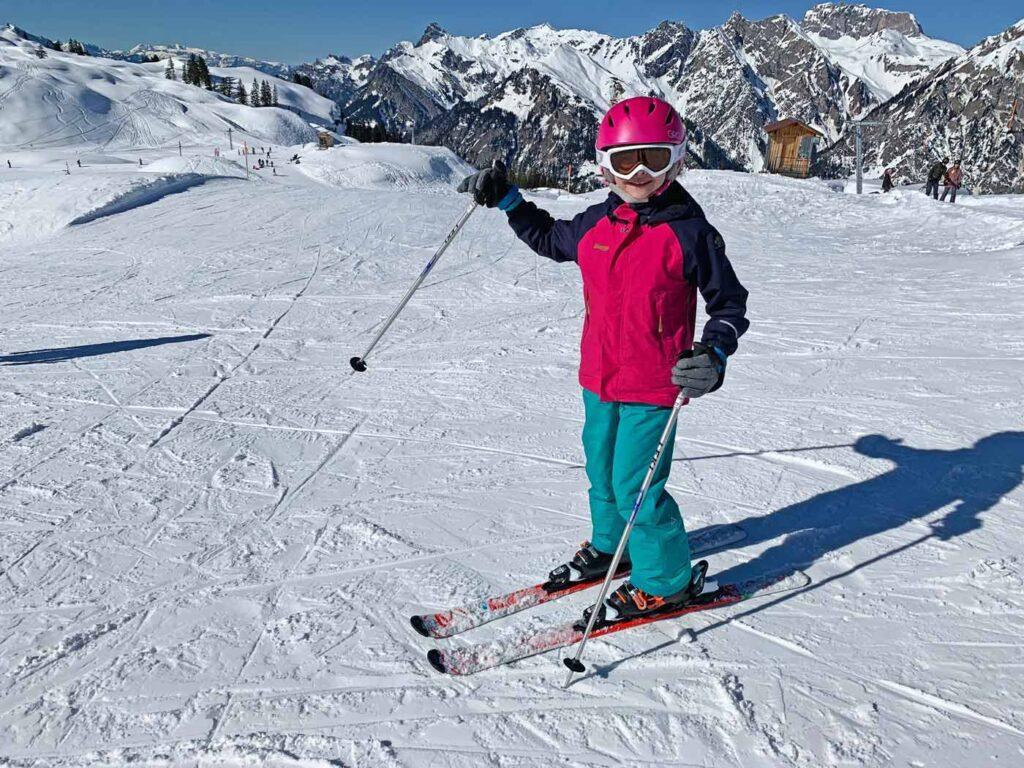 Kind rustige skigebieden Sonnenkopf Oostenrijk