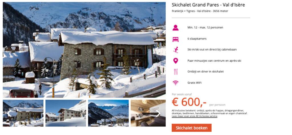 Skichalet Frankrijk