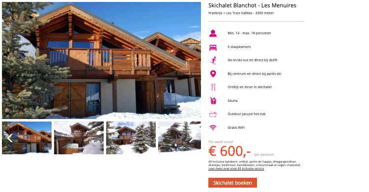 Skichalets Frankrijk