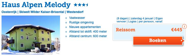 Alpen Melody accommodatie Westendorf