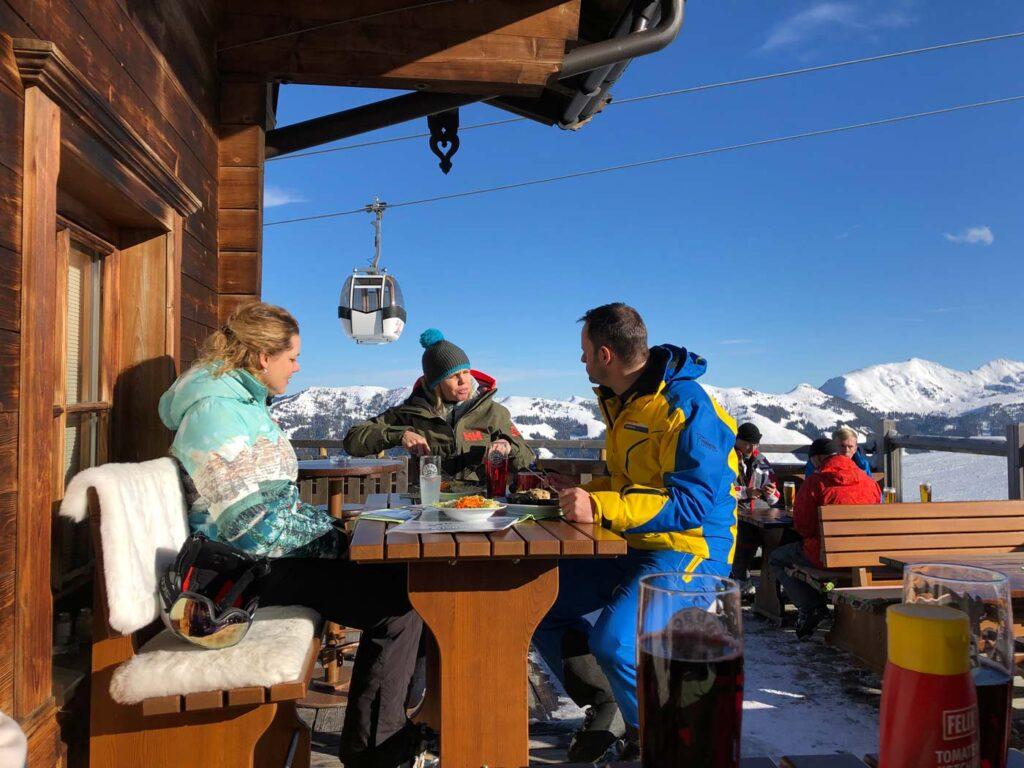 Berghut met terras Ski Juwel