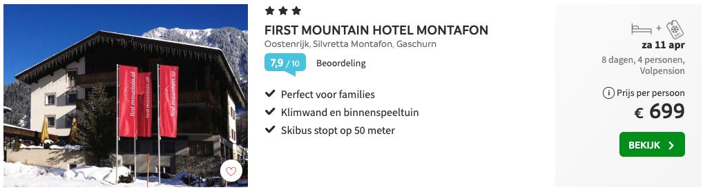 First Mountain Hotel Wintersport Montafon accommodatie