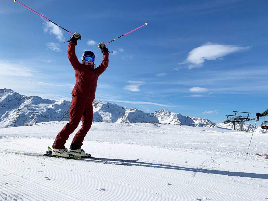 Blije Skiër op de piste