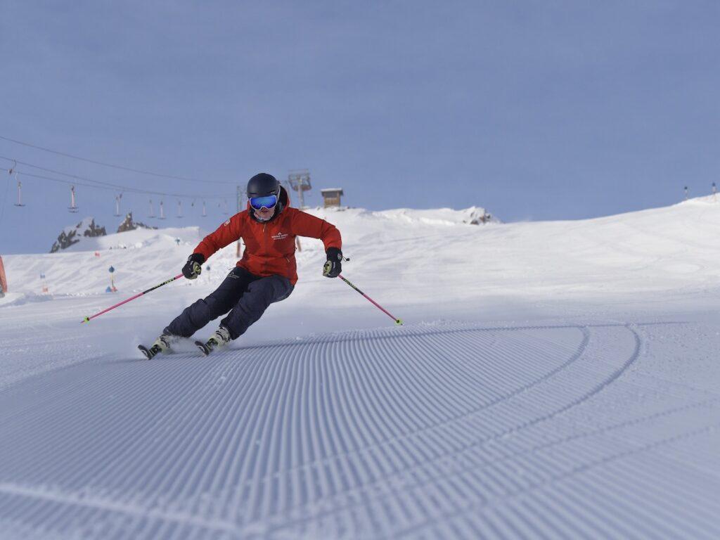 Skiën op ribbeltjespiste