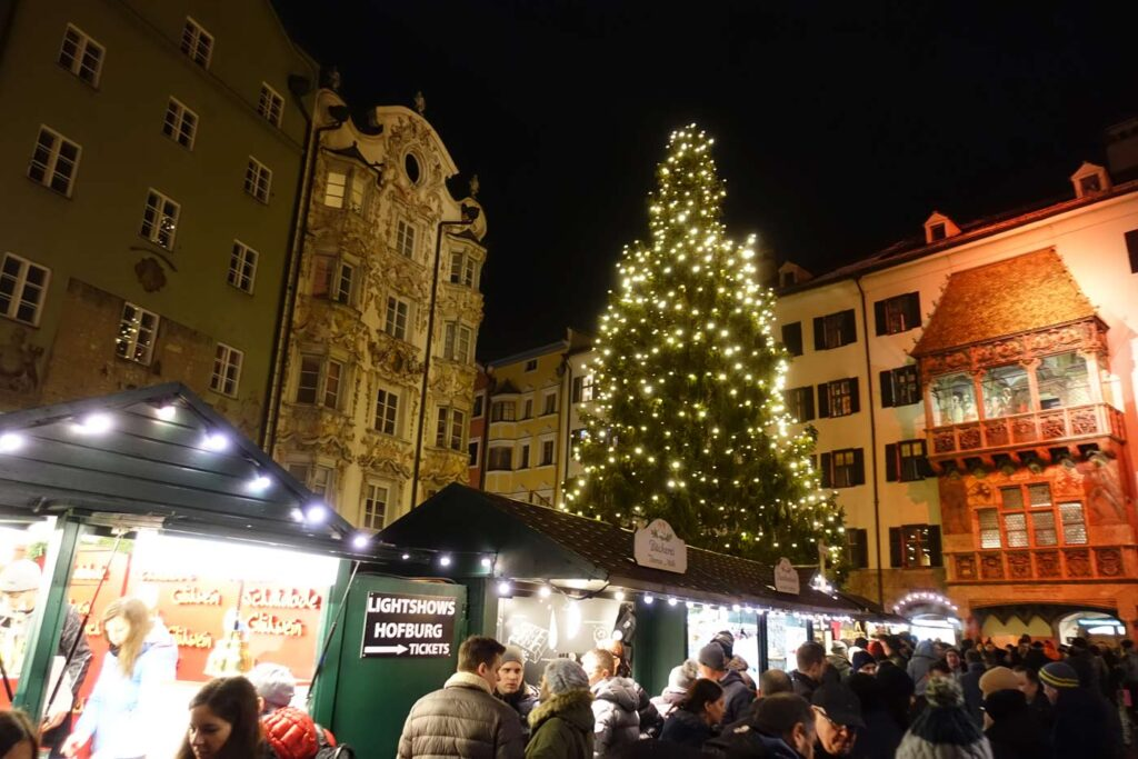 Kerstmarkt in de Alpen