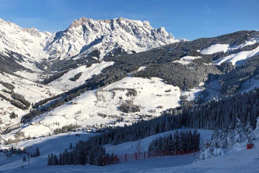 Uitzicht op berg Hochkönig