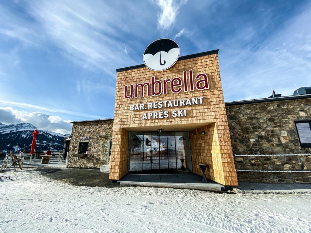 Après-ski in Gerlos in de Umbrella Bar