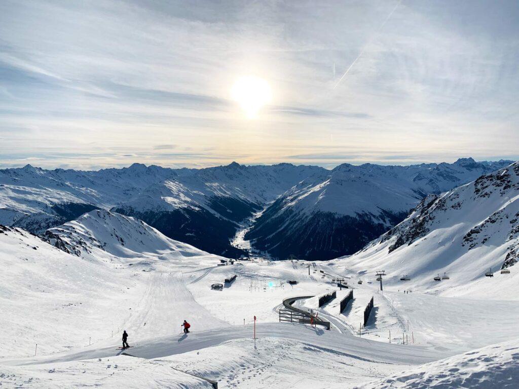 Pistes in Davos op de Parsenn