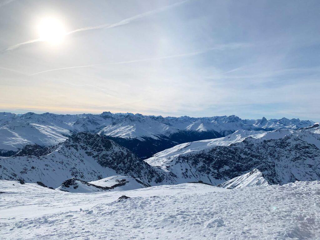Uitzicht Weissfluhgipfel Davos