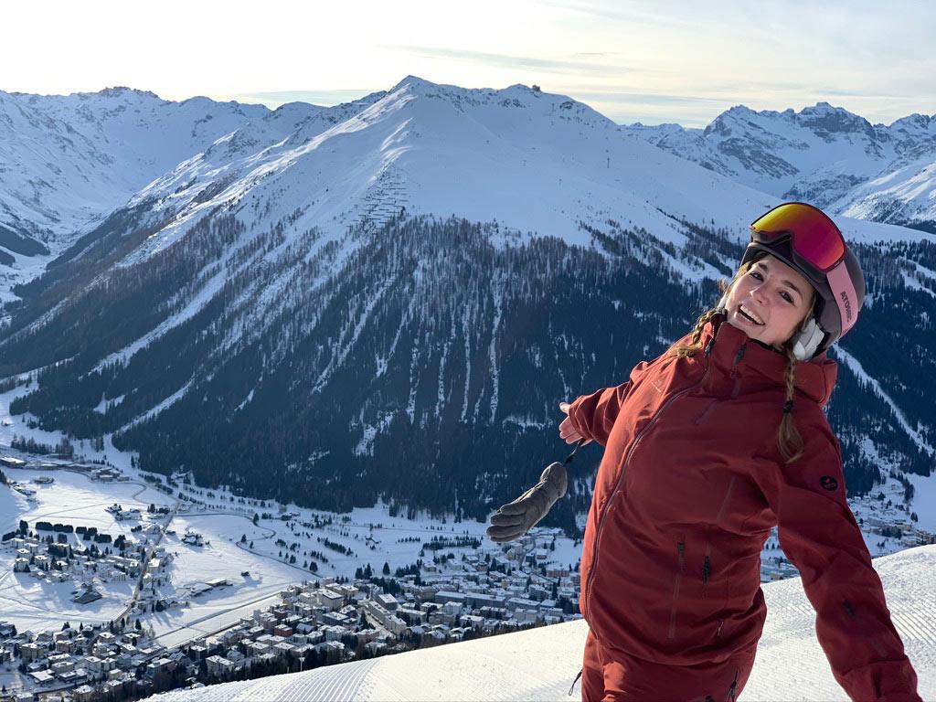Uitzicht bergen Davos