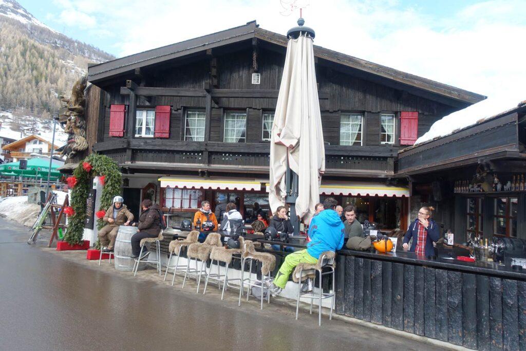 Après-ski in Zwitserland Saas-Fee