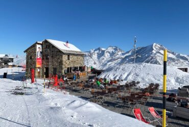 Bergrestaurant wintersport Zwitserland in Saas Fee
