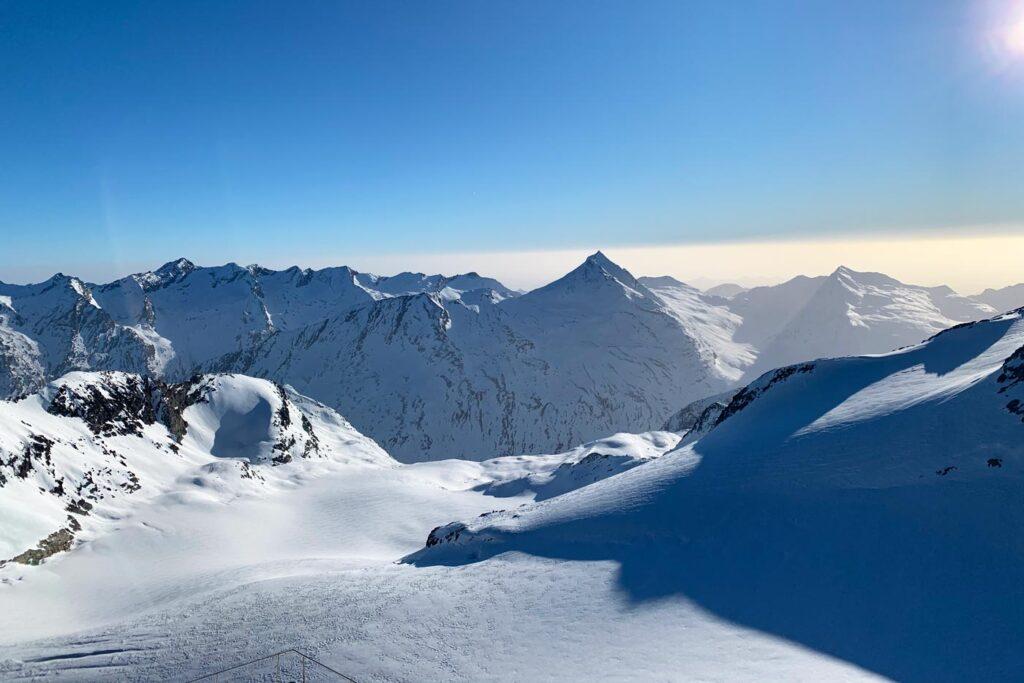 Uitzicht op Gletsjer Saas Fee