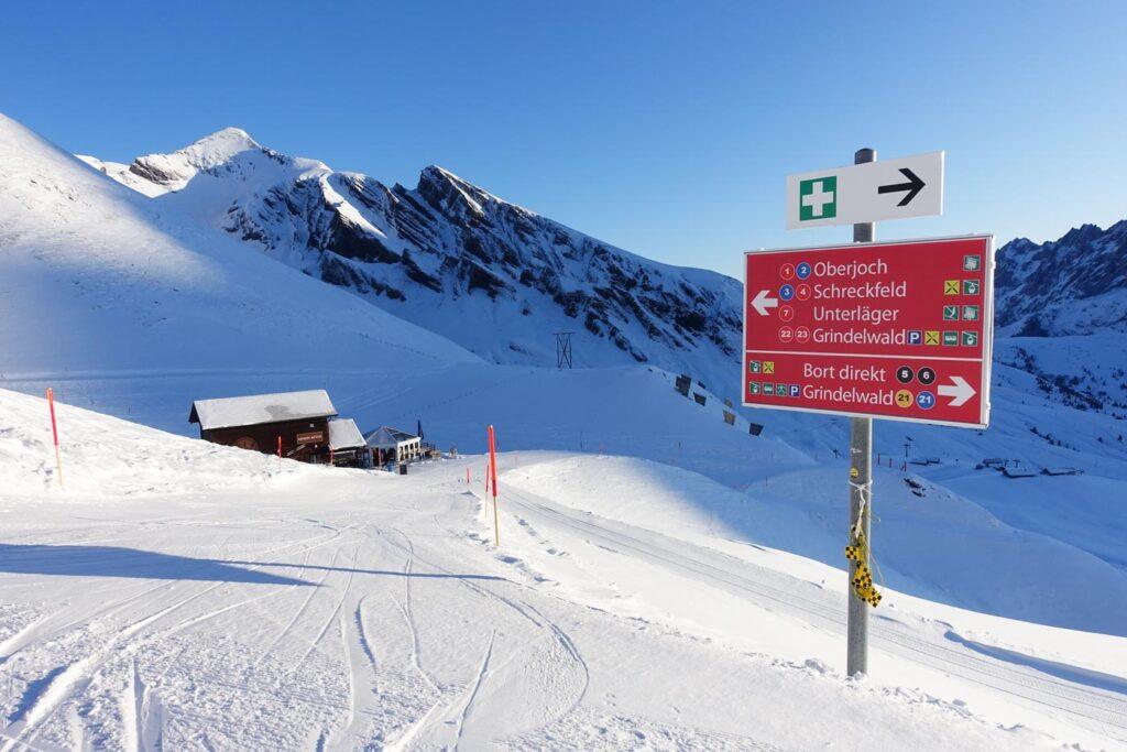 Bord op piste in Grindelwald