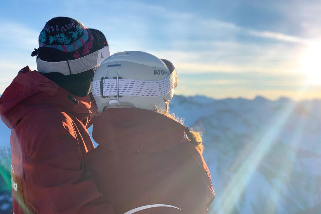 Uitzicht op skigebied Arosa Lenzerheide