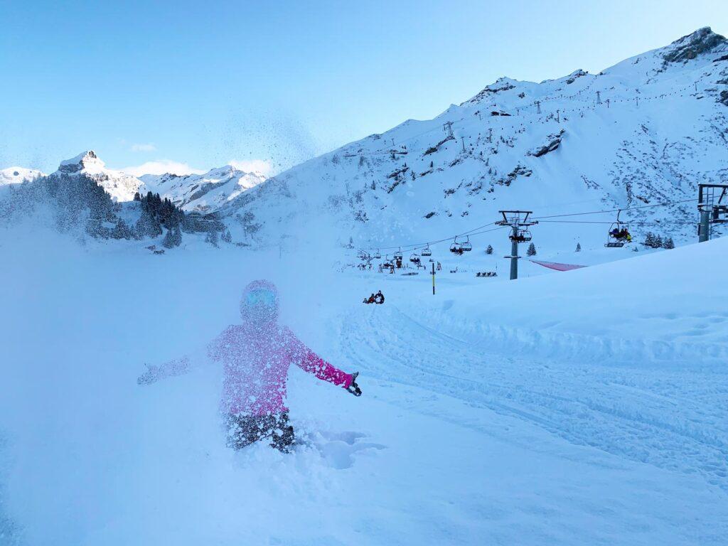 Verse sneeuw in Engelberg