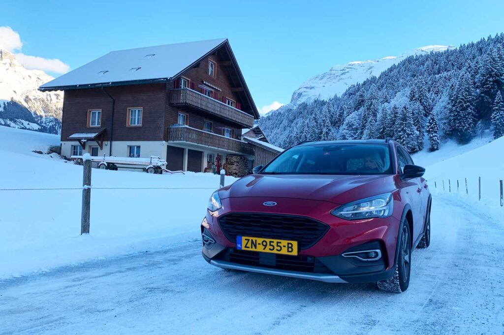 Met de auto op wintersport in januari 2022