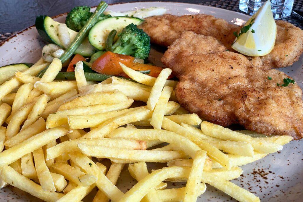 Schnitzel met patat