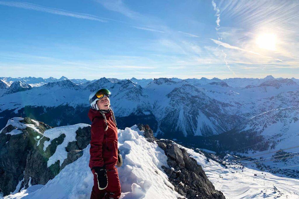 Uitzicht Weisshorn Arosa wintersport vakantiepark zwitserland