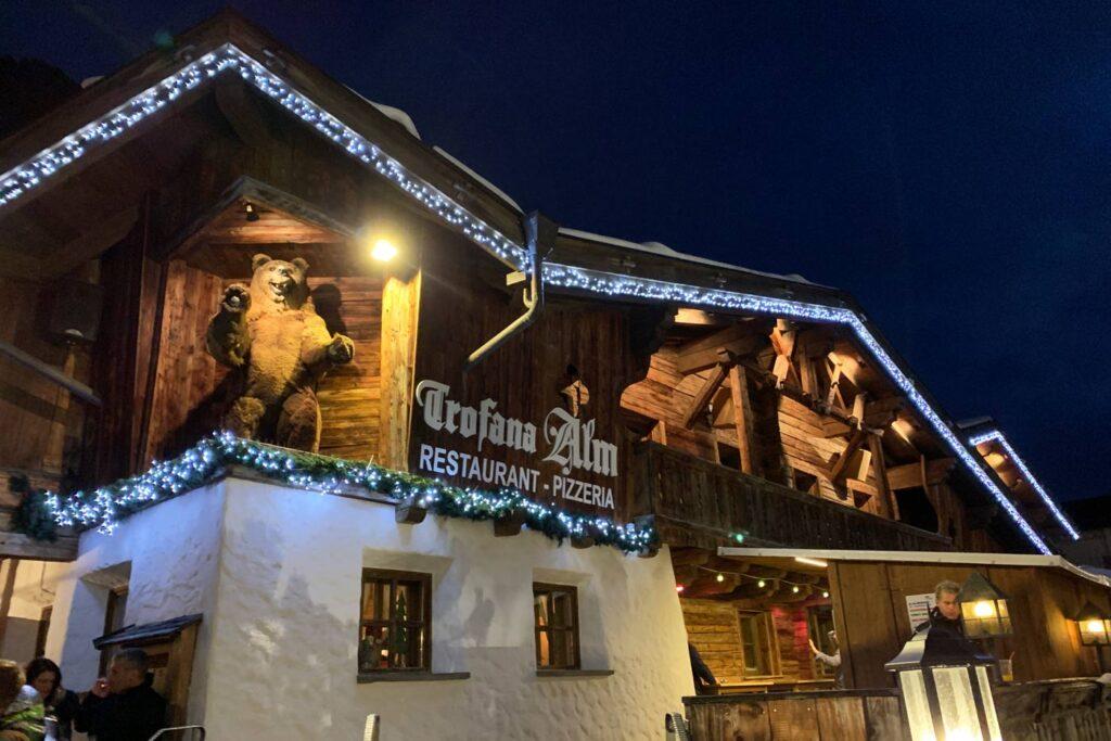 après-ski in Ischgl bij de Trofana Alm