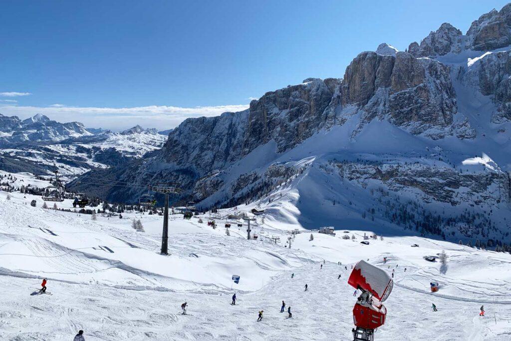 Wintersport in Val Gardena piste