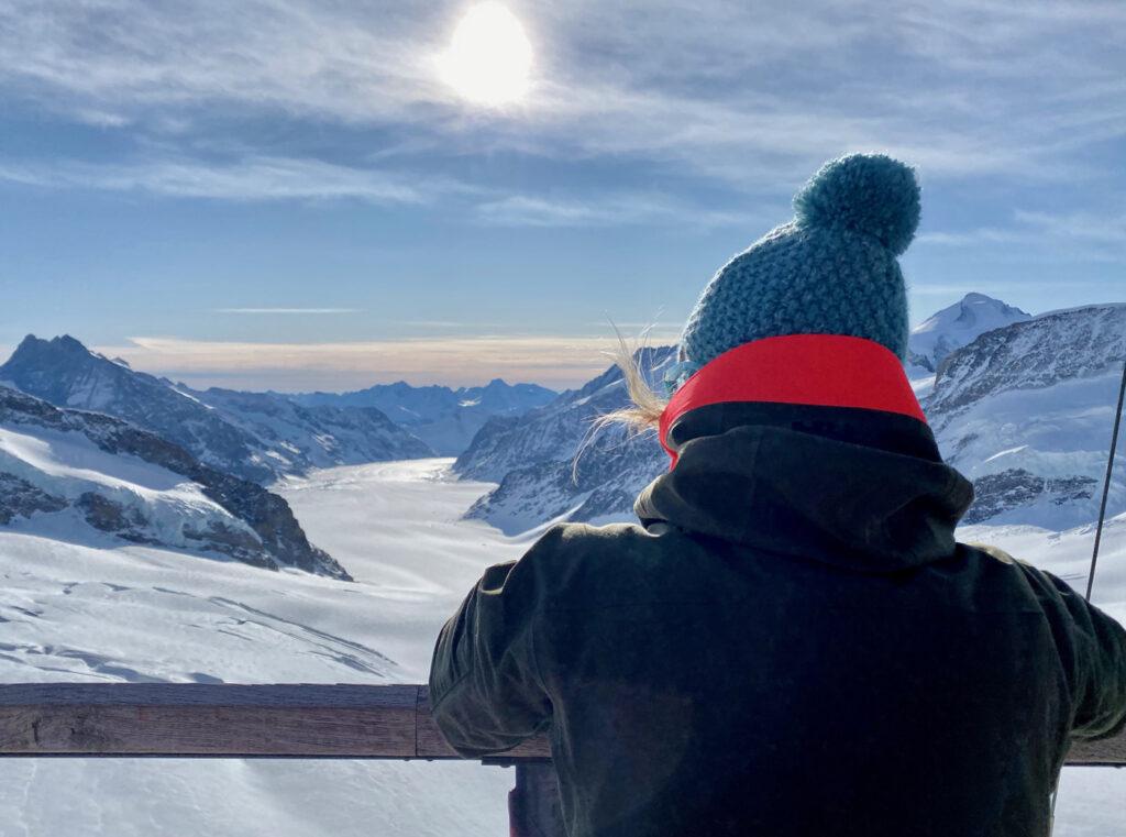 Uitzicht op het Jungfrau Joch