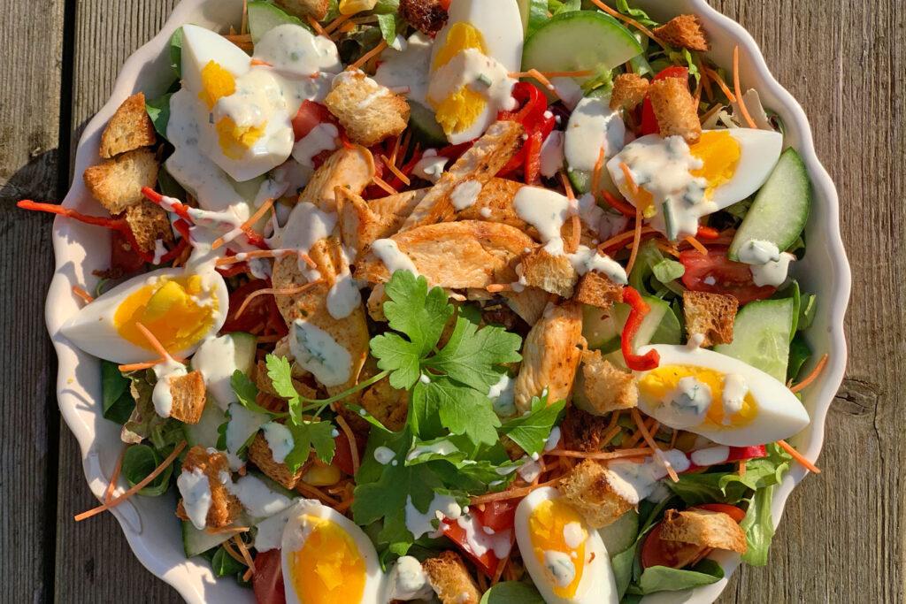 Oostenrijkse salade met kip
